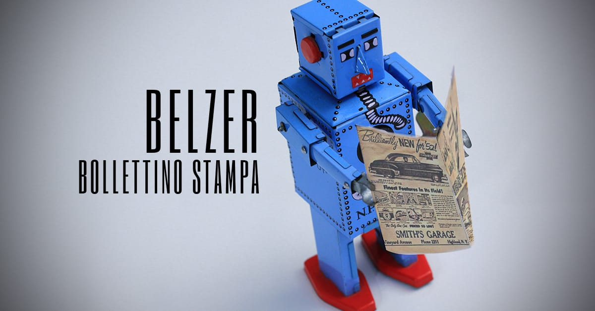 Bollettino stampa: Note Spillate Belzer